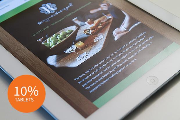 restaurant website tablet