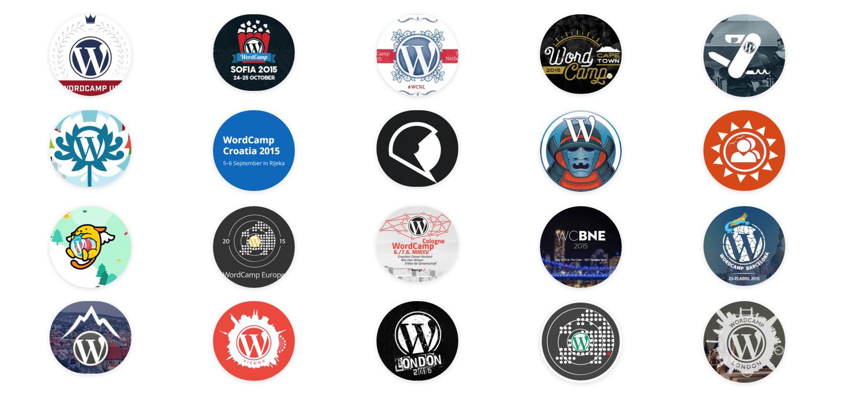 WordCamp icons 2015