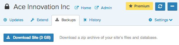 How to Restore your site from backup zip